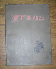 1923 Knightsonian  High School Year Book  New Castle Indiana