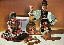 Frohes Neues Jahr Ungarische Tracht Dolls Barack Palinka Alkohol Glück Schwein