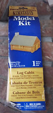 Wood Log Cabin Model Kit 4.5 x 5.5 inches when finished - ships international