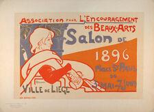 ORIGINAL MAITRES DE L'AFFICHE POSTER PLATE 108  SALON DE 1896  EMILE BERCHMANS