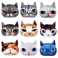 Plush 3D Cute Cat Dog Face Throw Pillow Case Decor Cushion Cover Xmas Gift AO