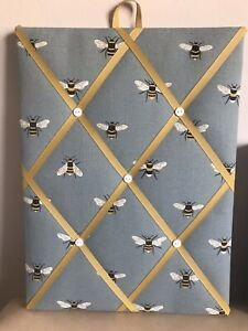 Hand Made Fabric Notice Board In Sophie Allport New Bee Fabric