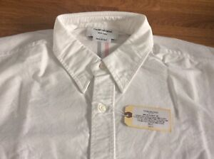Thom Brown Classic Solid Oxford With Centre RWB Long  Sleeve Shirt Size 5 BNWT