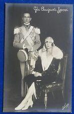 UMBERTO DI SAVOIA e MARIA JOSE' Gli Augusti Sposi no viaggiata anni 30 f/p#22002