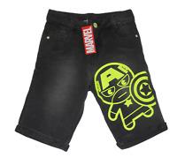 Marvel Captain America Kawaii design printed Boys Jeans Shorts size : 7/8Y