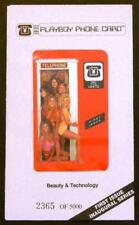 TK Telefonkarte 25u Playboy: B&T Playmates In Phone Booth. Red. 'First Issue'. #