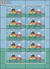 Deutsch-Polnisches Jugendwerk 90 Cent – Zehnerbogen – postfrisch – Mi.Nr. 3249
