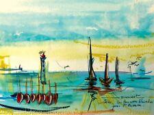 Peinture, tableau, decoration, paysage, phare, méditerranée, bateau, Sète