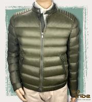 PRADA Men's Moto Biker Down Jacket, Quilted Coat In Olive Green NWOT MSRP$2195