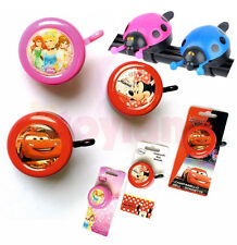 CHILDRENS BIKE BELL BICYCLE DISNEY CARS MINNIE MOUSE LADYBIRD BOYS GIRLS GIFT