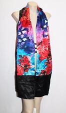 ASILK Brand Black Floral Reversible Wrap Cardigan One Size BNWT