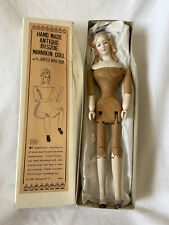 Handmade Bisque Mannikin Doll with Jointed Wood Body Shackman
