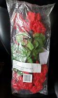 Set of 3 Geranium Bushes Red - Artificial Flowers