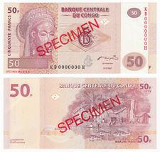 CONGO DEMOCRATIC REPUBLIC 50 Francs SPECIMEN 2007 P-97s UNC Uncirculated