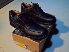 Clarks Men's Casual  Espace Lace Up Oxfords Black Oily Leather 86234 SZ 9.5 E