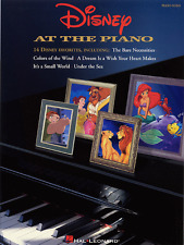 DISNEY AT THE PIANO-PIANO SOLO/KEYBOARD MUSIC BOOK-BRAND NEW ON SALE SONGBOOK!!