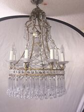 9 Lights Italian Venetian Beaded Chandelier With Glass Drops