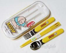 90's vintage - Ziggy cutlery set (chopsticks, fork, spoon) for bento