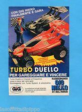 TOP989-PUBBLICITA'/ADVERTISING-1989- GIG NIKKO - TURBO DUELLO RADIOCOMANDATE