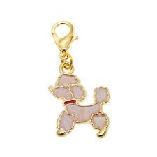 8x Enamel Poodle Dangle Pendant Lobster Clasp Bracelet DIY Jewelry  Accessories