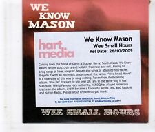 (HL83) We Know Mason, Wee Small Hours - 2009 DJ CD