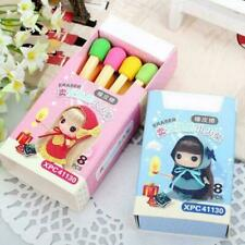 8 Pcs/Set Kawaii Match Colorful Eraser Students Stationery Creative Gift B1Q1
