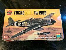 🛩️ Vintage AIRFIX FOCKE WULF FW 1900 Scale Model Kit No. 01064 1.72 Humbrol SL1