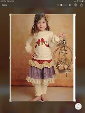 Persnickety EUC Girl's Embroidered Heel Skirt Set With Legwarmers 6
