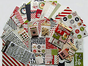 New!  SIMPLE STORIES [CLAUS & CO.] 12x12 Paper & Embellishment Set B   Save 55%