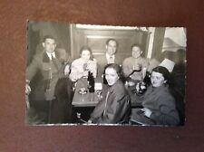 G1a postcard unused grindelwald people in a bar 1950s old undated