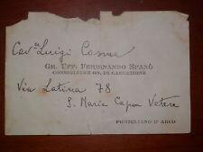 foglio da visita SANTA MARIA CAPUA VETERE POMIGLIANO D ARCO biglietto d epoca