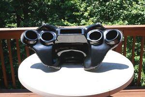 Yamaha roadstar 1600/1700 fairing 4 speakers batwing fairing black getcoated