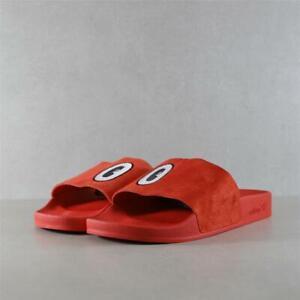 Mens Adidas x Hattie Stewart Adilette Red Slides (TGF63) RRP £44.99