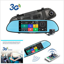 1080P Car Camera 7'' 3G GPS Bluetooth WIFI Dual Lens rearview mirror Dash cam