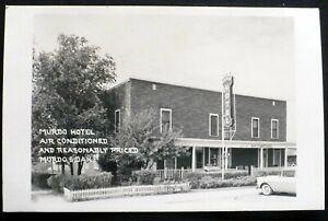 1950s RPPC Air Conditioned Murdo Hotel in Murdo, South Dakota Unused Postcard