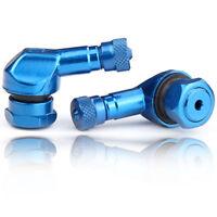 2x Motorrad Alu Winkelventil blau 11,3mm Ventile Eckventil  KEIN CHINA MÜLL !