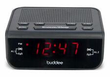 Buddee BD903203-BK Digital Clock Radio with 0.6 Inch LED Display - Black