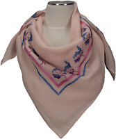 Trachtentuch Rosa 100% Wolle wool scarf Stickerei Gämse Eichenlaub