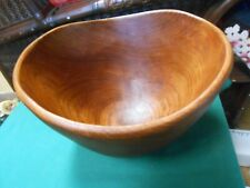 Great Collectible Antique Wood Bowl.Unusual Shape
