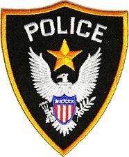 POLICE Law Enforcement Military Embroidered Patch Veteran Biker Emblem