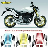 12X 17inch Motorcycle front & Rear Edge Outer Rim Sticker For Honda Hornet