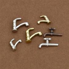 Mini 1:12 Miniature Water Tap Metal Faucet Dollhouse Accessories 6 Pcs/Set Toys