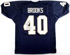 "Reggie Brooks Signed Notre Dame Jersey Inscribed ""92 All-American"" (JSA COA)"
