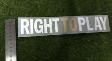 2011-2012 Gold RIght To Play Soccer Patch Badge Heat Transfer Patch