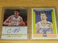 Chandler Parsons 2X ROOKIE AUTOGRAPH Card Lot