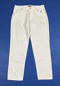 Jeckerson pantalone uomo usato W34 tg 48 slim trousers boyfriend jeans T6258
