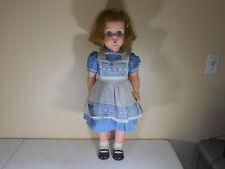 "Vintage Pixie Doll Sleepy Eyes, Blond Hair & Blue Dress 1960's Huge 30"" Doll"