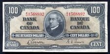 BC-27b 1937 $100 ONE HUNDRED DOLLARS BANK OF CANADA BANKNOTE XF