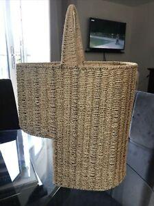 Wicker Stair Basket Excellent Condition