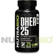 NutraBio DHEA (Dehydroepiandrosterone) 25 mg 500 Capsules (#23066)